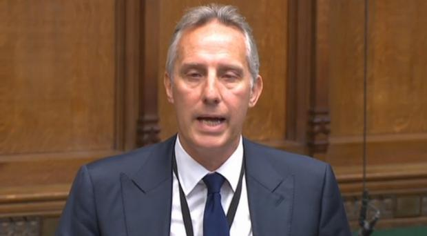 DUP MP Ian Paisley apologising to the House of Commons in London for failing to register two family holidays funded by the Sri Lankan government (PA)