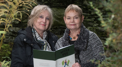 Sybil Allen (76) and Anne Montgomery (72) with their book Mixed Veg