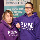 PVN drop-in centre volunteers Angel De'ville and Liz Rocks helped to give first aid after a young man fell from a 'party' bike