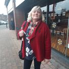 Geraldine Fox on the Falls Road, Belfast
