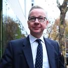Environment Secretary Michael Gove arrives at his office in Westminster (Victoria Jones/PA)