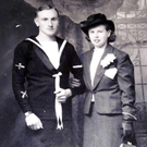 Isaac Higginson with his wife Isabella on their wedding day in 1941