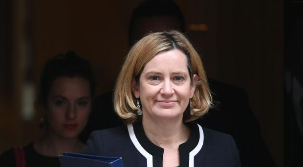 Amber Rudd is back in the Cabinet (PA)
