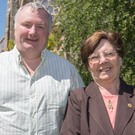 Annie Maguire with broadcaster Stephen Nolan