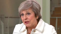Prime Minister Theresa May appearing on the Sophy Ridge on Sunday show