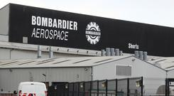 Jobs are going at the Bombardier Aerospace plant in Belfast (Brian Lawless/PA)