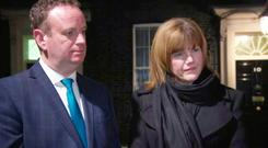Stephen Kelly from Manufacturing NI and Claire Guinness from Warrenpoint Harbour were at the meeting