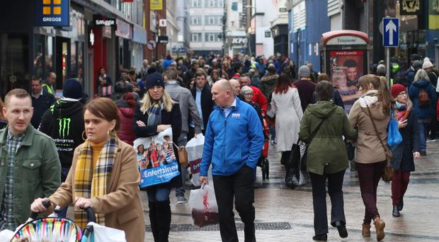 Shoppers in Belfast on Black Friday