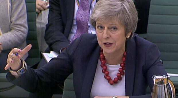 Theresa May gives evidence to the Liaison Committee (PA)