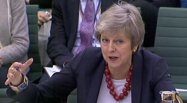 Prime Minister Theresa May gives evidence before the Liaison Committee (PA)