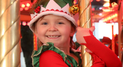 Erin Donnelly at the launch of the Children's Cancer Charity Christmas Campaign at Belfast City Hall