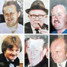 The Loughinisland victims: Patsy O'Hare, Barney Green, Adrian Rogan, Eamon Byrne, Daniel McCreanor and Malcom Jenkinson (Loughinisland/PA)