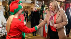 Secretary of State Karen Bradley visited Wardens of Newtownards, Belfast Telegraph Retailer of the Year, where she met the store's elves Mary Louise Williamson and Tracey Meredith and visual merchandiser Sarah Groves