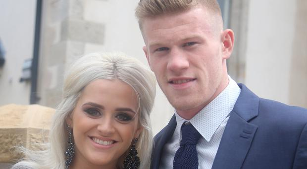 James McClean with his wife Erin
