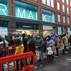 Shoppers queue up for the new Primark store in Belfast