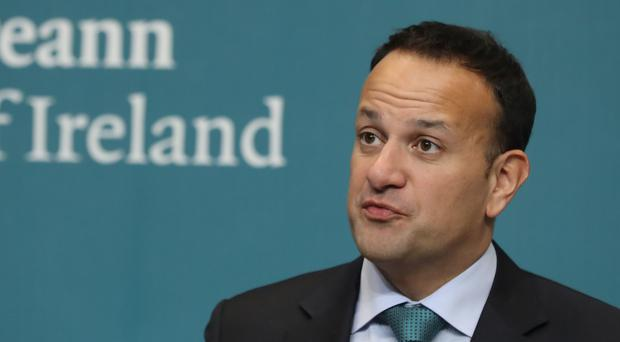 The UK can remove the threat of no-deal by halting or delaying Brexit, Leo Varadkar said (Niall Carson/PA)