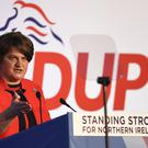 Arlene Foster says the backstop must be removed (Michael Cooper/PA)