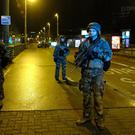 Soldiers patrol in Strasbourg after the shooting (AP)