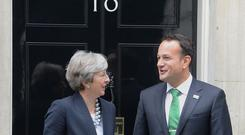 Leo Varadkar said there could be no question of removing the border backstop (PA)
