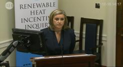 Neasa Murnaghan QC delivers the Department for the Economy's closing submission to the RHI Inquiry in Belfast (RHI Inquiry/PA)