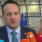 The Irish border backstop is not on the table for re-negotiation, Leo Varadkar said (Tom Honan/PA)