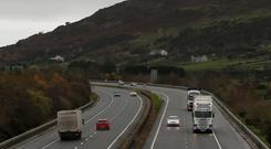 A view of traffic on the A1 in Northern Ireland close to the border with the Republic of Ireland (Brian Lawless/PA)
