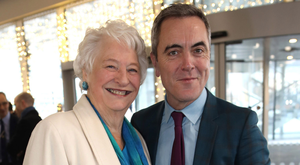 Dame Mary Peters with James Nesbitt