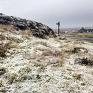 Ground frost near the Tan Hill Inn in the Yorkshire Dales as amber warnings alerting people to heavy snow and ice have been issued for the north of England and Midlands (Danny Lawson/PA)