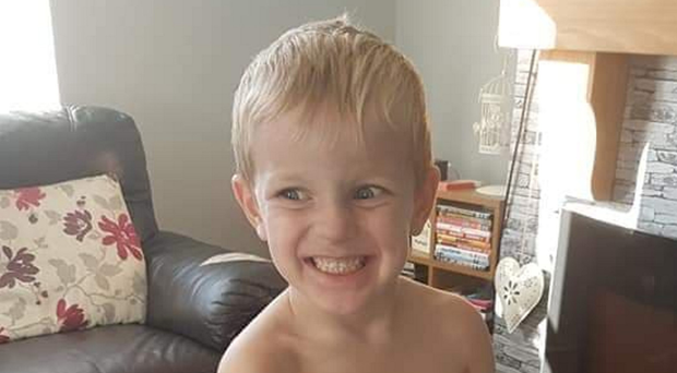 Three-year-old Kai Corkum who died on Friday 14 December. Kai is pictured making his christmas list for this year.