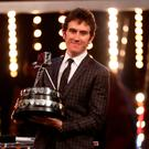 Geraint Thomas poses with the BBC Sports Personality of the Year award
