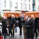 The double funeral of Elizabeth McCartan and Davy Scott
