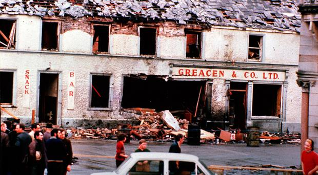 The scene of the Monaghan bomb in 1974
