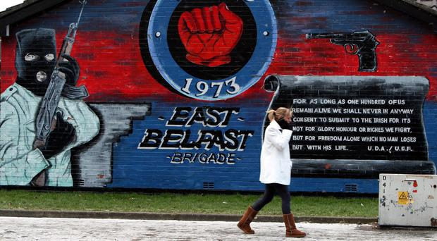 A Loyalist mural on the Newtownards road in Belfast (Paul Faith/PA)