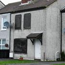 Shutters were put on one house following the attacks by loyalist terror gang