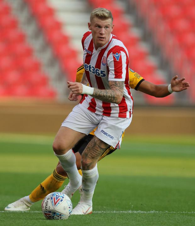Stoke City and Republic of Ireland player James McClean