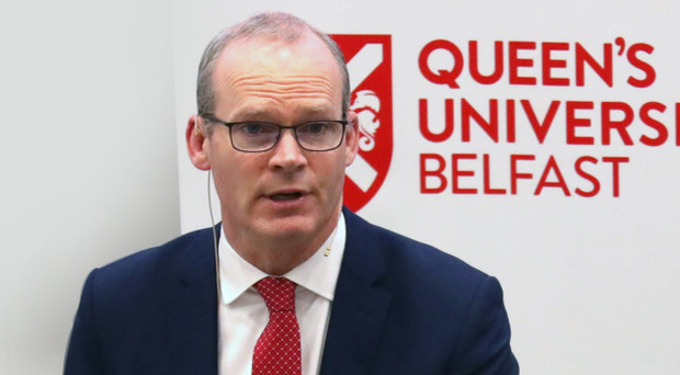 Tanaiste Simon Coveney speaking at Queen's University last night