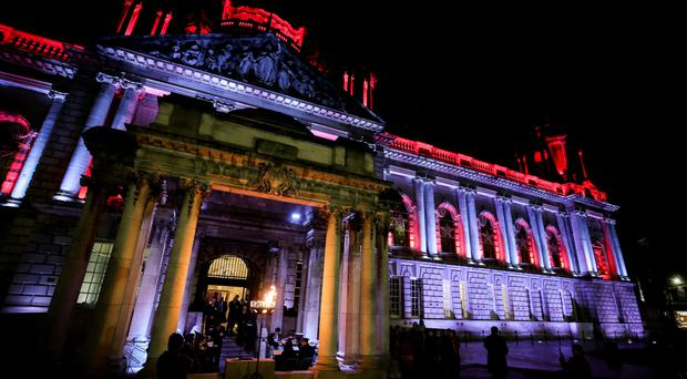 Belfast City Hall is often lit up in support of various causes.