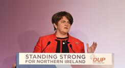 DUP leader Arlene Foster has urged Theresa May to go back to Europe and broker a new deal. (PA Archive)