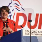 DUP leader Arlene Foster held talks with Theresa May (Michael Cooper/PA)