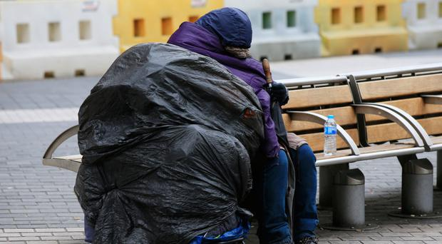 Vulnerable: a rough sleeper in Belfast