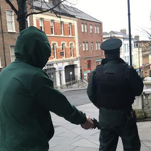 Police stage a re-enactment of the murder of Michael Ferguson (Rebecca Black/PA Wire)