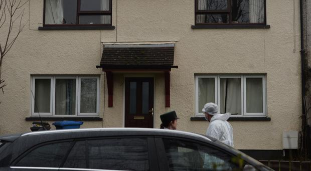 Forensic officers at the scene of Wayne Boylan's murder in January.