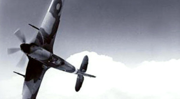 A Hawker Hurricane plane like the one flown by John Keatinge Haire