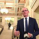 The Irish Government's Foreign Affairs minister Simon Coveney has admitted it would be 'very difficult' to avoid border infrastructure in Ireland under a no-deal Brexit (David Young/PA)