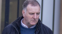 Eamon Phillips leaves Newry Courthouse