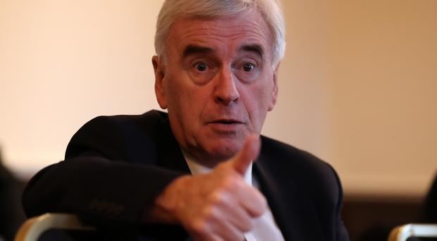 Shadow chancellor John McDonnell (Andrew Milligan/PA)