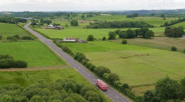 A border crossing between Co Fermanagh in Northern Ireland and Co Monaghan in the Republic of Ireland (Naill Carson/PA Wire)