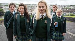 The cast of hit Channel 4 comedy Derry Girls