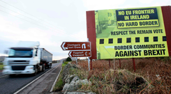 The backstop is designed to prevent a hard border on the island of Ireland.