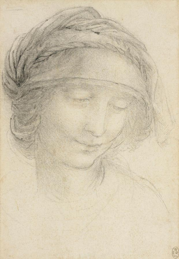 The drawing of The head of St Anne